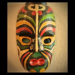 Vintage Handcarved wooden tribal mask